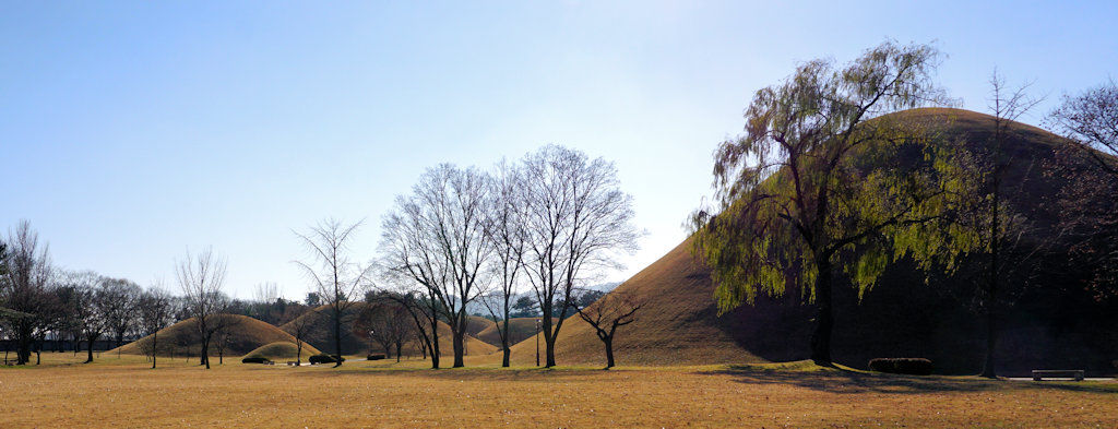 S. Korea Silla period burial mounds - Gyeongju